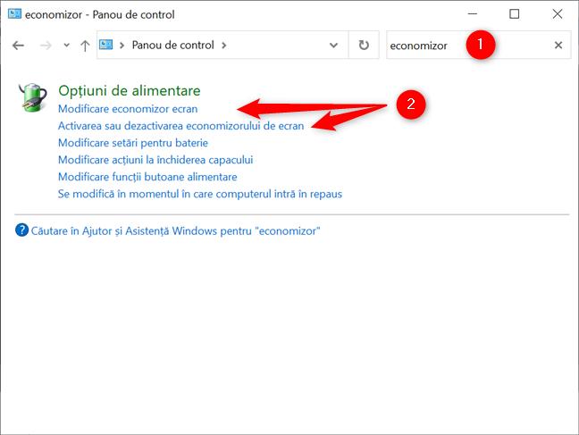 Deschide setările screensaver în Windows 10 din Panoul de control