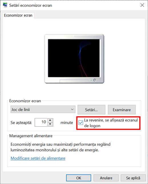 Decide dacă Windows 10 cere o parolă când revine