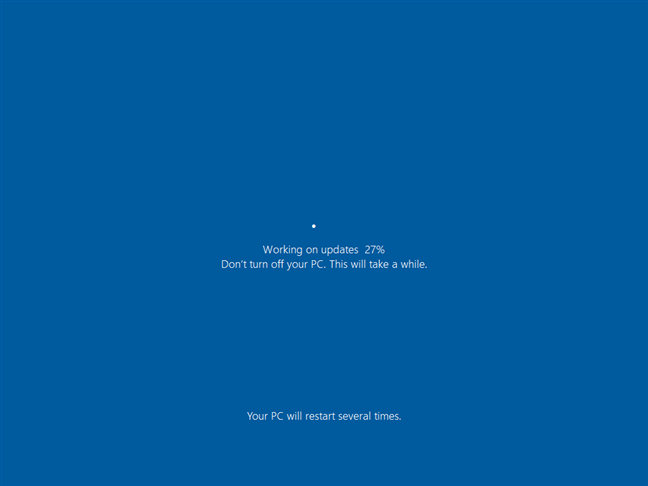 Se finalizează actualizarea Windows 10