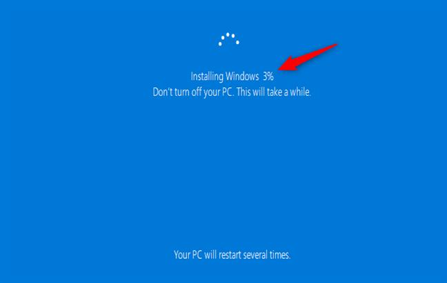 Instalare Windows 10 când nu sunt păstrate fișierele sau setările
