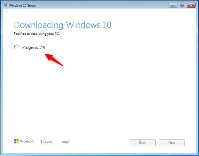 Descărcarea Windows 10