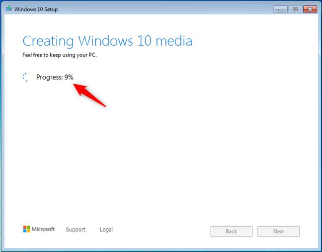 Crearea mediului de instalare Windows 10