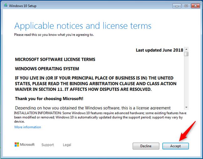 Termeni de licențiere pentru Windows 10
