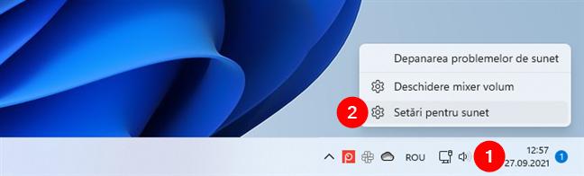 Deschide Setări pentru sunet în Windows 11