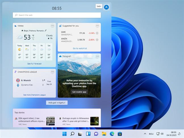 Widgeturi în Windows 11