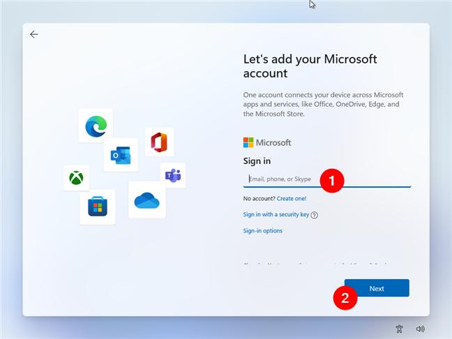 Windows 11 Home nu îți permite utilizarea de conturi locale la instalare