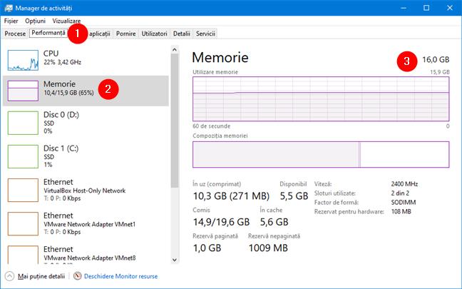 Cerințe de sistem pentru Windows 11: RAM