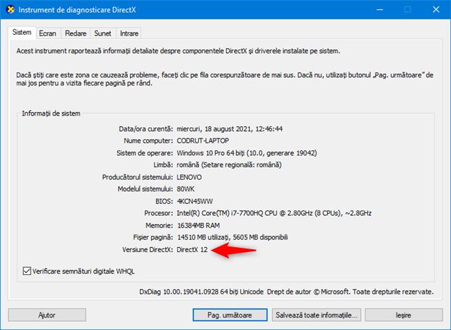 Cerințe de sistem pentru Windows 11: Placă video ce suportă DirectX 12