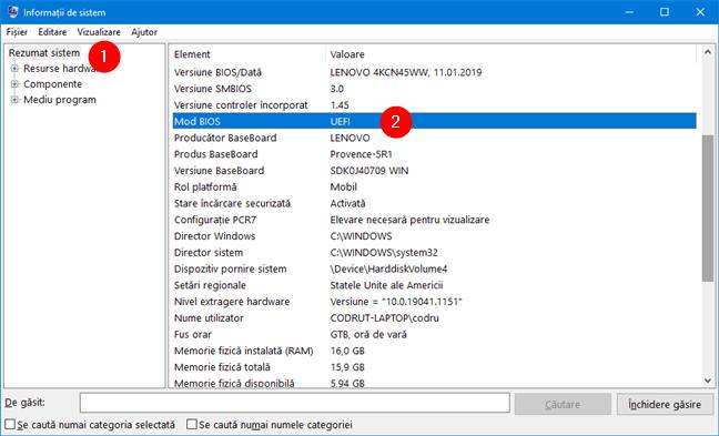 Cerințe de sistem Windows 11: UEFI (nu BIOS)