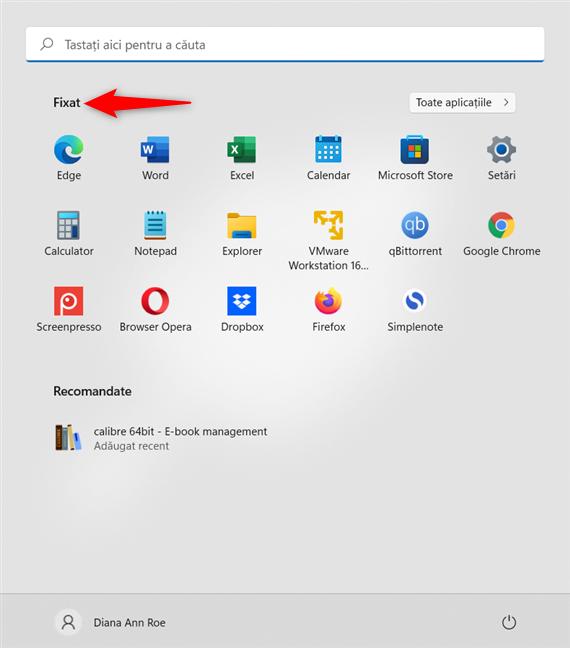 Fixarea la Start din Windows 11 adaugă pictograme în secțiunea Fixat