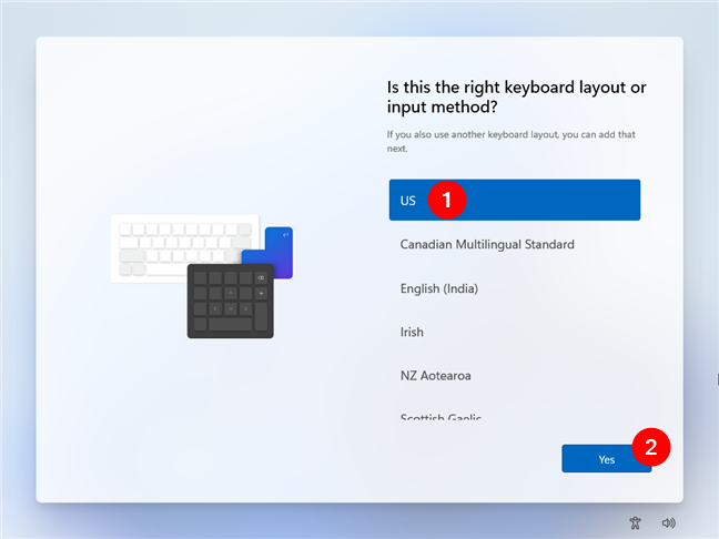 Selectează tastatura pe care vrei să o utilizezi
