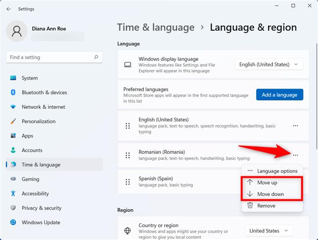Folosește o limbă diferită pentru aplicațiile Microsoft