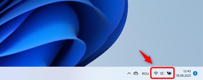 Deschide setările rapide din Windows 11