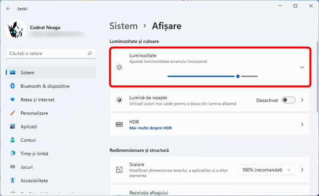 Cum ajustezi luminozitatea din Setările Windows 11