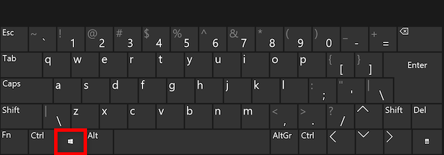 Deschide Meniul Start cu tasta Windows