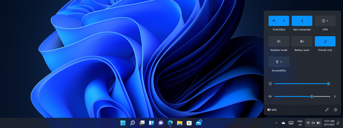 Setări rapide Windows 11
