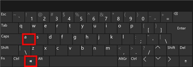 Combinația de taste pentru Setări rapide din Windows 11