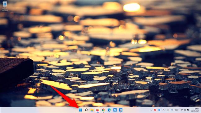 Deschide meniul Start pentru a reporni Windows 11