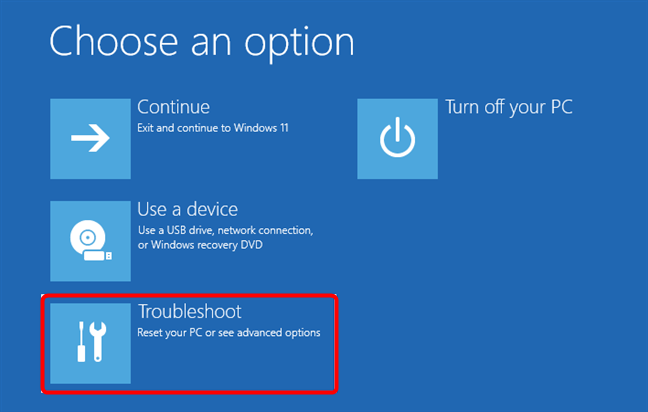 Troubleshoot (Depanare) Windows 11