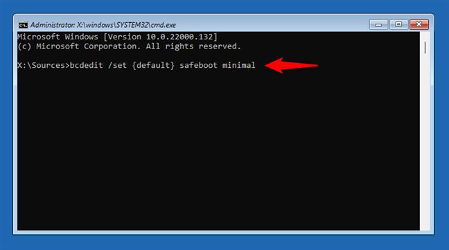 Cum pornești Windows 11 în Safe Mode din Linia de comandă
