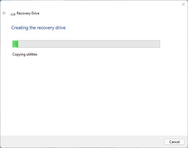 Crearea unui stick USB de recuperare pentru Windows 11
