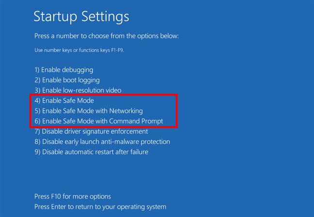 Alege una dintre cele trei opțiuni Safe Mode pentru Windows 11