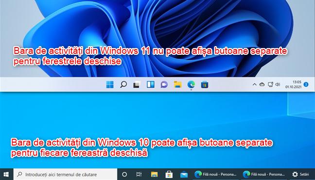 Bara de activități din Windows 11 nu poate afișa butoane separate pentru ferestrele deschise