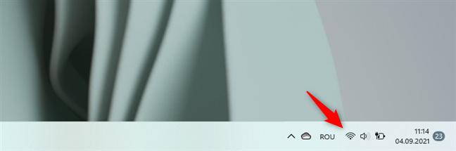 Pictogramele de sistem de pe bara de activități din Windows 11