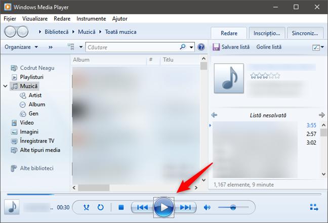 Cum să aculți toată muzica în Windows Media Player