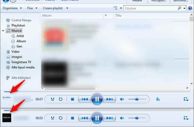 Windows Media Player: Informații despre melodia redată