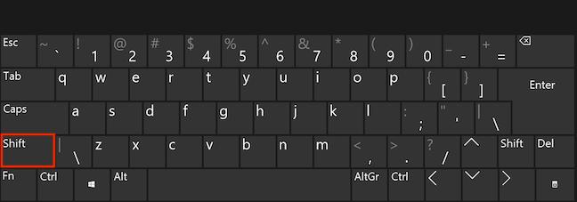 Folosește tasta Shift pentru a selecta text