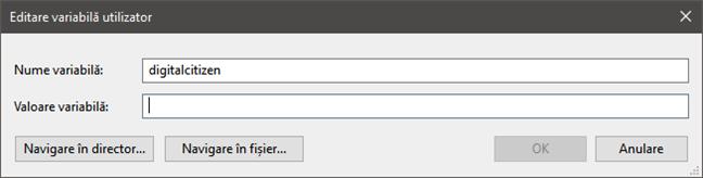 Cum elimini valoarea unei variabile în Windows