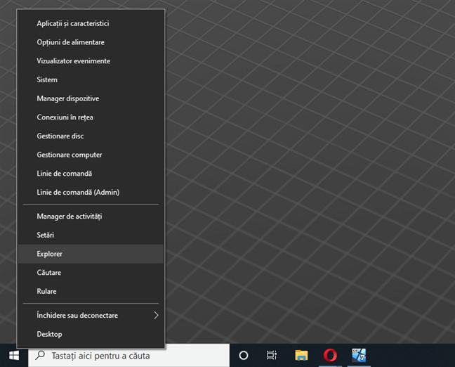 Există un meniu nou, ascuns pe desktop, numit WinX
