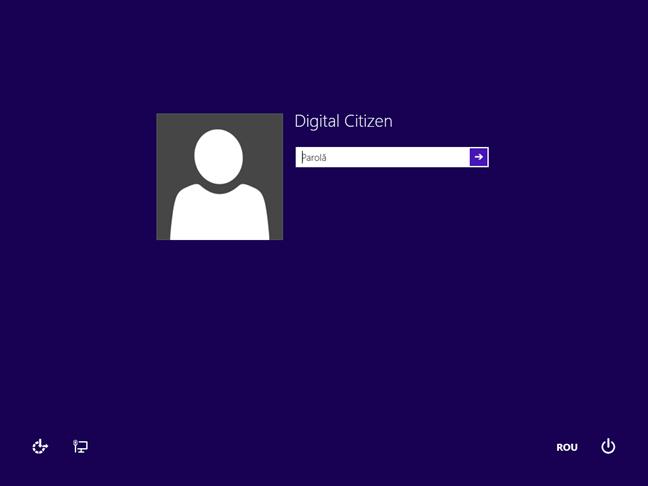 Ecran de conectare din Windows 8.1