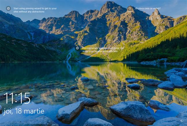 Ecran de blocare Windows 10