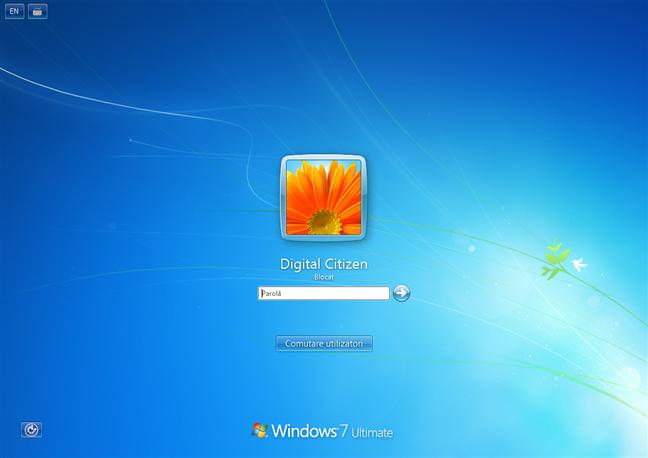 Ecran de blocare din Windows 7