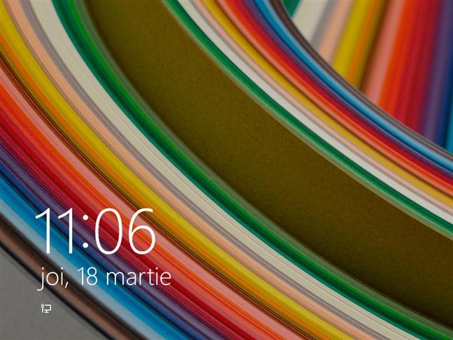 Ecran de blocare din Windows 8.1